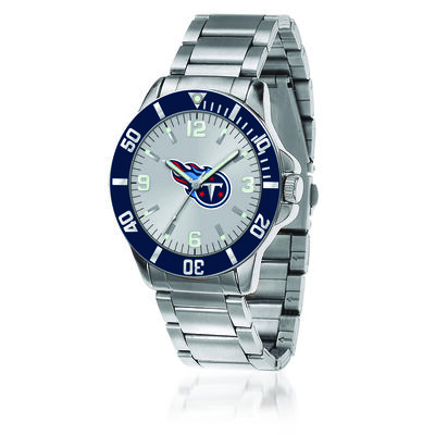 Men's 46mm NFL Tennessee Titans Stainless Steel Key Watch