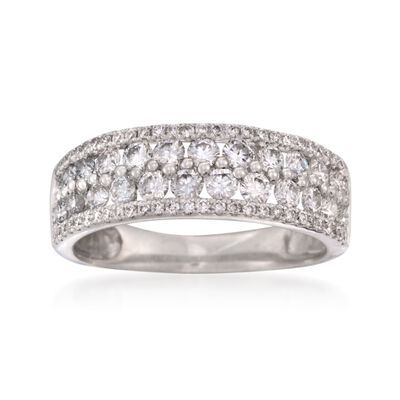 1.31 ct. t.w. Diamond Wedding Ring in 18kt White Gold, , default