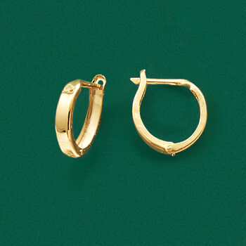 "14kt Yellow Gold Huggie Hoop Earrings. 1/2"", , default"