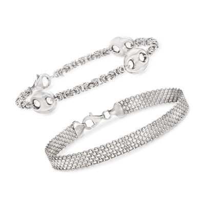 Sterling Silver Jewelry: Set of Two Bracelets