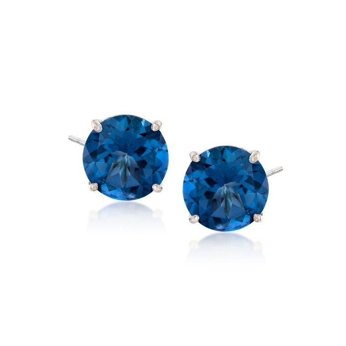 8.50 ct. t.w. Mystic Blue Topaz Stud Earrings in Sterling Silver, , default