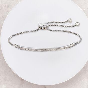 .15 ct. t.w. Diamond Bar Bolo Bracelet in Sterling Silver