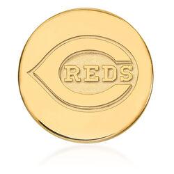 14kt Yellow Gold MLB Cincinnati Reds Lapel Pin, , default