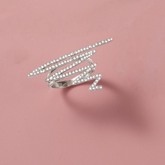 .70 ct. t.w. Diamond Zigzag Ring in 18kt White Gold