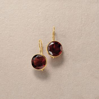 4.20 ct. t.w. Garnet Drop Earrings in 14kt Yellow Gold, , default