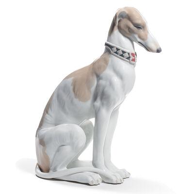 "Lladro ""Pensive Greyhound"" Porcelain Figurine"