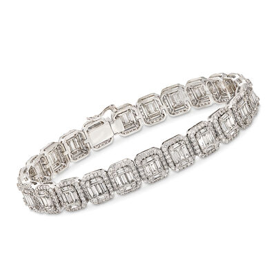 7.60 ct. t.w. Diamond Illusion Bracelet in 18kt White Gold, , default