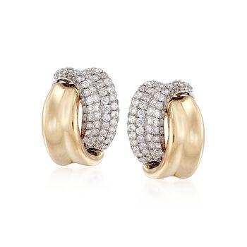 2.31 ct. t.w. Diamond Wrap  Earrings in 18kt Two-Tone Gold, , default