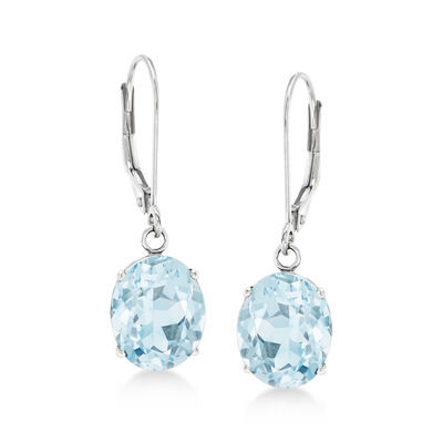 4.50 ct. t.w. Aquamarine Drop Earrings in Sterling Silver, , default