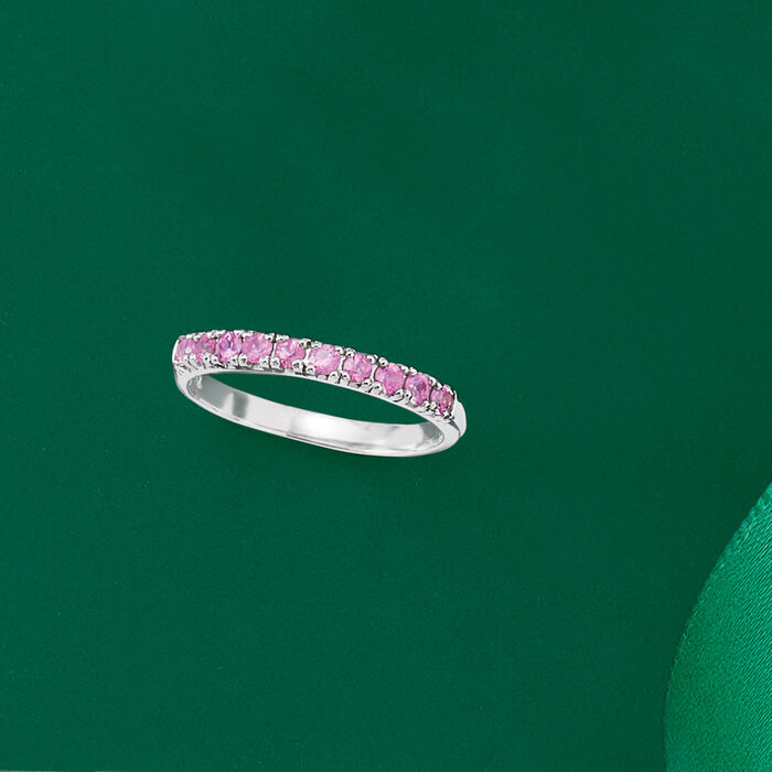 .50 ct. t.w. Pink Sapphire Ring in Sterling Silver