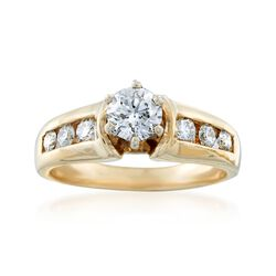 C. 1990 Vintage 1.00 ct. t.w. Diamond Ring in 14kt Yellow Gold. Size 7, , default