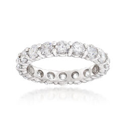 2.75 ct. t.w. CZ Eternity Band in Sterling Silver, , default