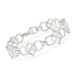"""Zina Sterling Silver Infinity-Link Bracelet. 7"""", , default"""