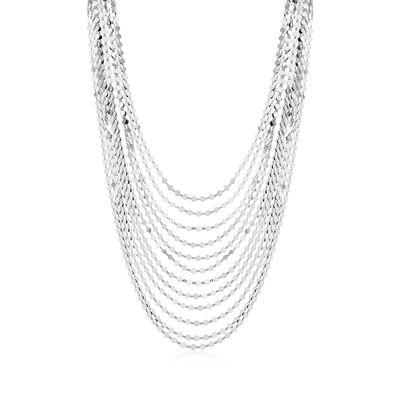 Italian Sterling Silver Multi-Strand Necklace