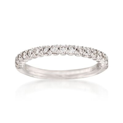 Henri Daussi .45 ct. t.w. Diamond Wedding Band in 14kt White Gold, , default