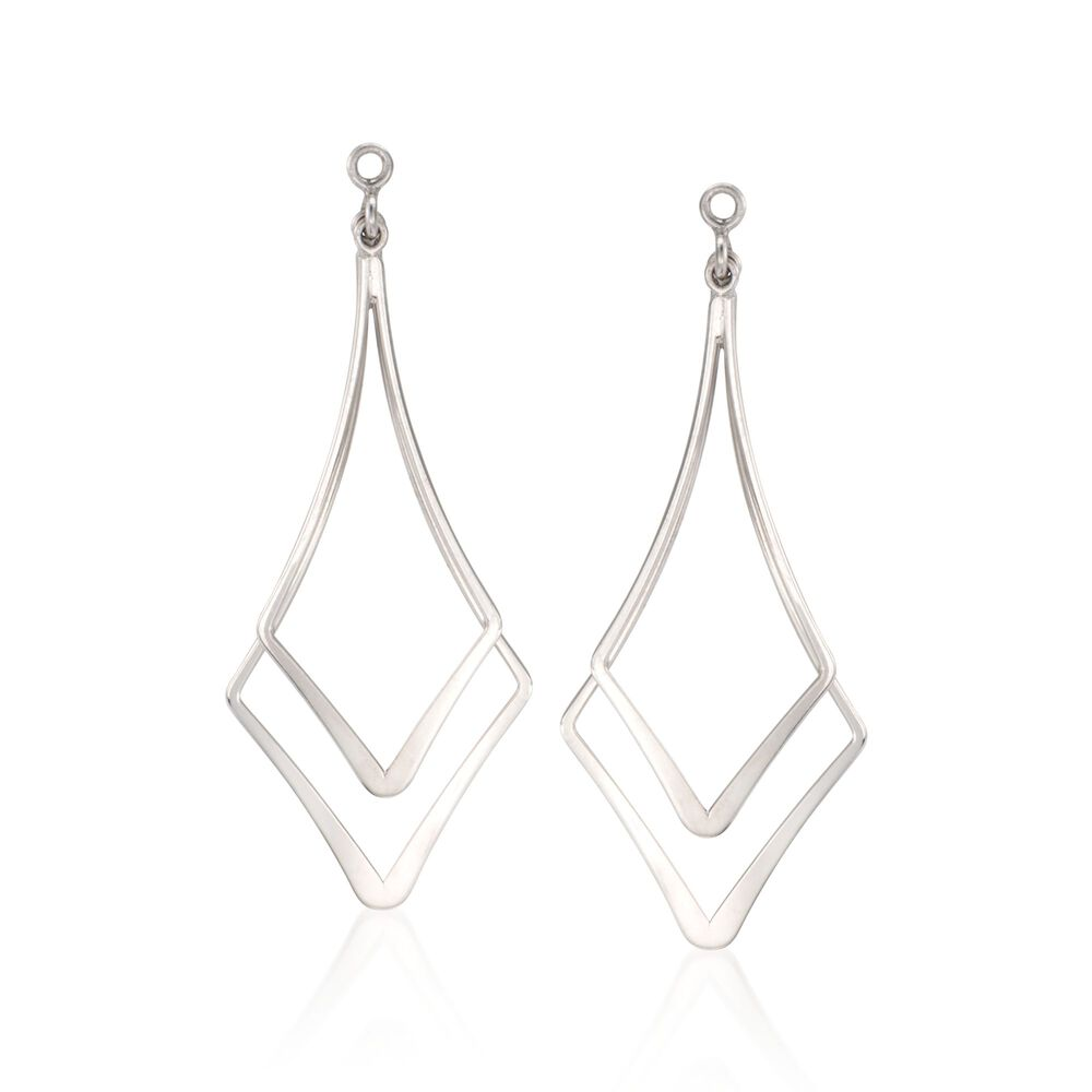 Sterling Silver Double Drop Earring Jackets Default