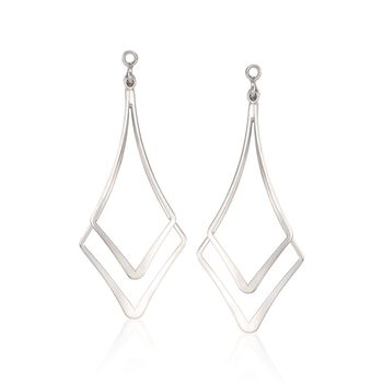 Sterling Silver Double Drop Earring Jackets, , default