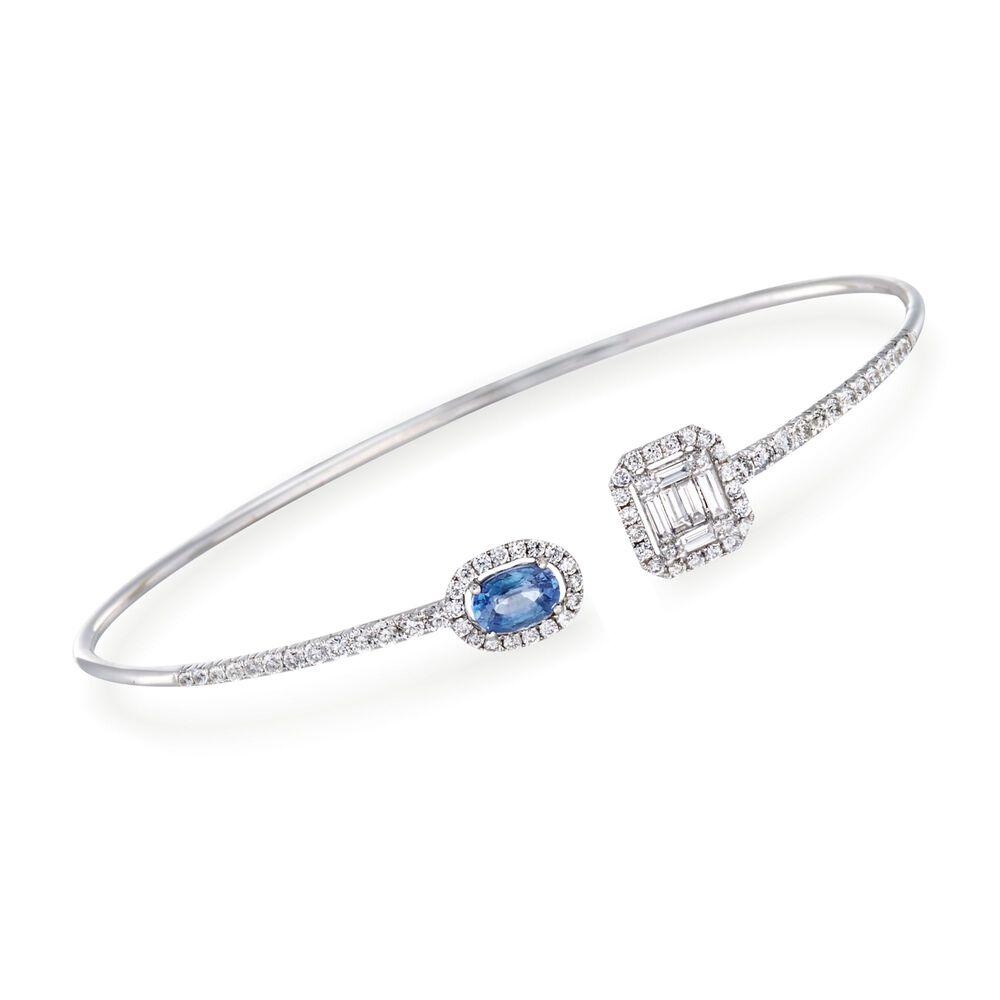 T W Diamond Cuff Bracelet In 18kt White Gold