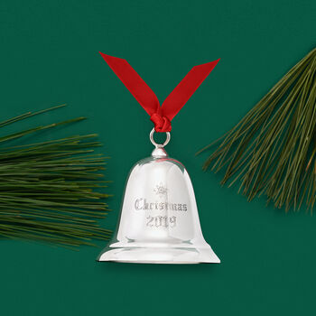 Reed & Barton 2019 Annual Sterling Silver Christmas Bell Ornament - 35th Edition, , default
