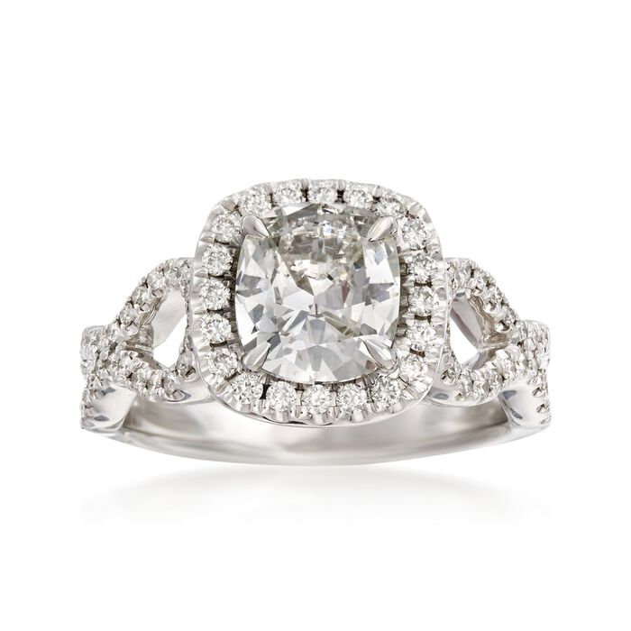 Henri Daussi 1.97 ct. t.w. Certified Diamond Engagement Ring in 18kt White Gold, , default