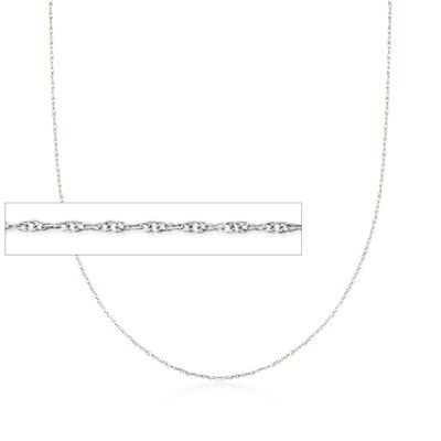 .7mm 14kt White Gold Rope Chain Necklace, , default