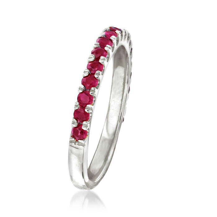 .70 ct. t.w. Ruby Ring in Sterling Silver
