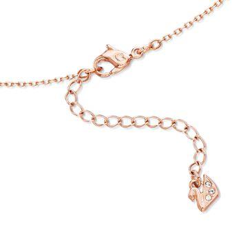 """Swarovski Crystal """"Sparkling Dance"""" Floating Crystal Heart Necklace in Rose Gold Plate. 14.75"""""""