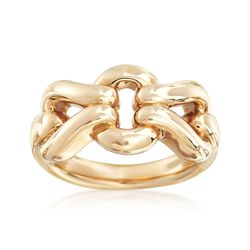 14kt Yellow Gold Interlocking Link Ring , , default