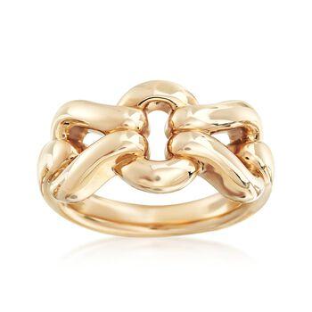 14kt Yellow Gold Interlocking Link Ring , , default