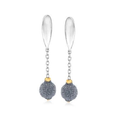 Italian Diamond Stardust Drop Earrings in 18kt Two-Tone Gold, , default