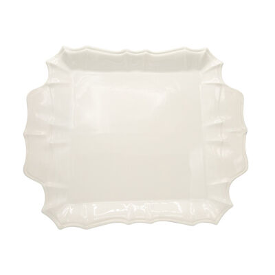 "Euro Ceramica ""Chloe"" White Square Platter, , default"