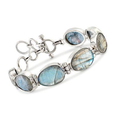 Labradorite Bracelet in Sterling Silver, , default