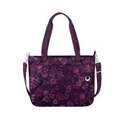 "Travelon ""Anti-Theft Boho"" Wine Rose Tote Bag , , default"