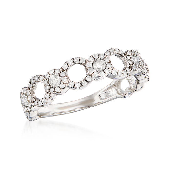.50 ct. t.w. Diamond Open-Circle Ring in 14kt White Gold
