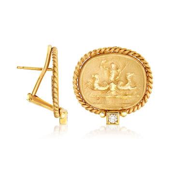 Mazza .10 ct. t.w. Diamond Earrings in 14kt Yellow Gold, , default