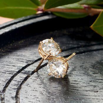 1.80 ct. t.w. Diamond Stud Earrings in 14kt Yellow Gold , , default
