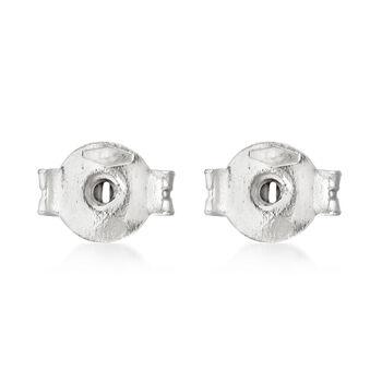 Italian 14kt White Gold Medium 5mm Earring Backings, , default