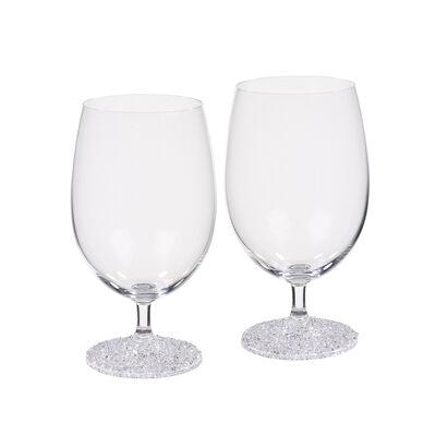 """Ice Crystal"" Set of 2 Beverage Glasses"