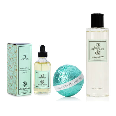 Te Fizz Bath Balls, Shower Gel and Body Oil Set