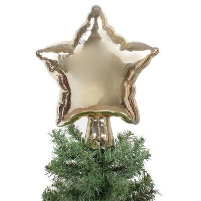 Gold Glass Star Tree Topper, , default