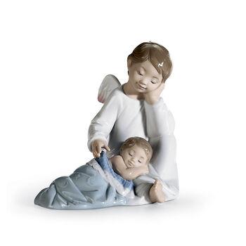 "Lladro ""My Guardian Angel"" Porcelain Figurine, , default"
