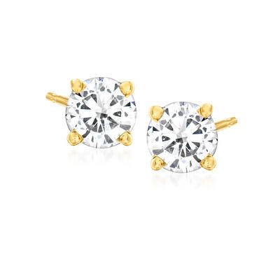 C. 2000 Vintage .70 ct. t.w. Diamond Stud Earrings in 14kt Yellow Gold