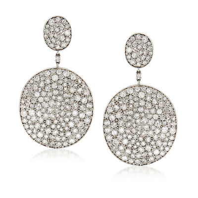 10.65 ct. t.w. Diamond Double-Disc Drop Earrings in 18kt White Gold, , default