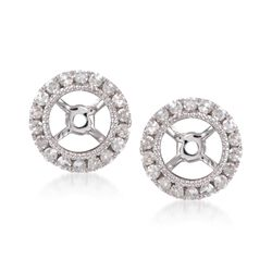 .25 ct. t.w. Diamond Earring Jackets in 14kt White Gold, , default