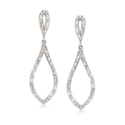 .56 ct. t.w. Diamond Drop Earrings in 14kt White Gold