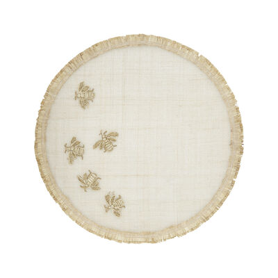 Joanna Buchanan Straw Bee Outdoor Placemat, , default