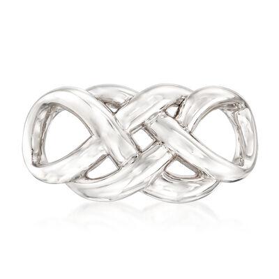 Sterling Silver Entwined Infinity Slide Pendant, , default