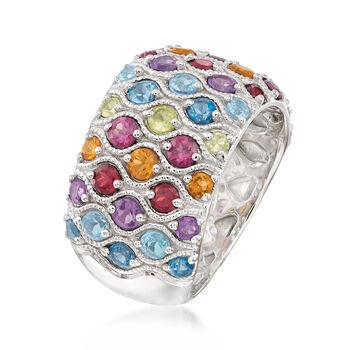 3.00 ct. t.w. Multi-Gemstone Ring in Sterling Silver, , default