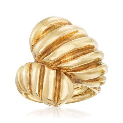 Italian 18kt Gold Over Sterling Shrimp Bypass Ring, , default