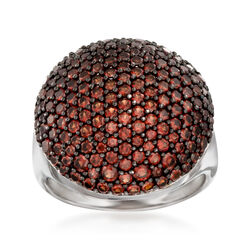2.90 ct. t.w. Garnet Dome Ring in Sterling Silver, , default